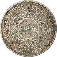 Monnaie, Maroc, Mohammed V, 5 Francs, 1928/AH1347, Paris, TTB, Argent, KM:37 - Morocco