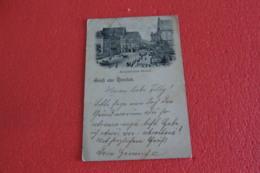 Poland Breslau Wroclaw Gruss Schweidnitser-strasse 1897 + NO Stamps - Pologne