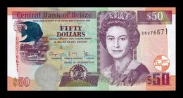 Belice Belize 50 Dollars Elizabeth II 2016 Pick 70f New SC UNC - Belice