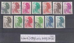 France Type Liberté (1982) Y/T Séries 2178/2190 Oblitérés (lot 3) - 1982-90 Liberté De Gandon