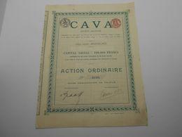 """Action Ordinaire  """" CAVA """" (charbon)    Montegnee (Liège) 1911.Charbonnage.Mines N°0108 - Industrie"""