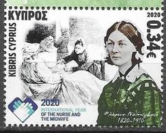 CYPRUS, 2020, MNH, INTERNATIONAL DAY OF NURSES AND MIDWIVES, FLORENCE NIGHTINGALE, 1v - Sonstige