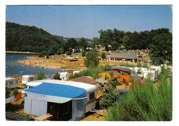 12 Saint St Amans Des Cots Vers Espalion N°9 La Plage Des Tours Camping Caravanes Court De Tennis VOIR DOS En 1984 - Espalion