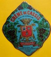 11464 - Crème De Cassis Surfine Distillerie Des Grands Etablissements Lyonnais - Andere