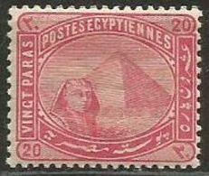 Egypt  - 1884 Sphinx & Pyramid  20pa MH * - Égypte