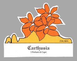 PUBLICITÉ PARFUM - CARTE PARFUMÉE / PERFUME ADVERTISING - FRAGRANCED CARD : CARTHUSIA - I PROFUMI Di CAPRI (ae822) - Perfume Cards