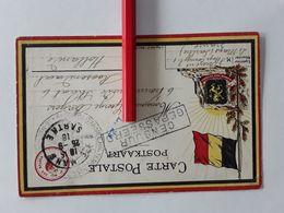 BELGISCHE POSTKAART VERZONDEN VAN FRANCE NAAR HOLLAND ROOSENDAAL  CENSUUR GEPASSEERD 1918 SPECIALE AFGESTEMPELD - Militaria