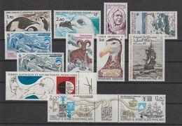 TAAF Année Complète 1985 109-114 Et PA 86-89,91A ** MNH - Años Completos