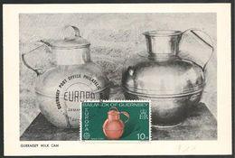 Guernsey: FDC, Maximum Card, Artigianato, Artisanat, Crafts, Contenitore Latte, Milk Container, Récipient à Lait - Europa-CEPT