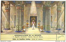 6 Chromos -Liebig - Representation De La Divinite - S 1654 - Liebig