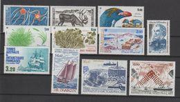 TAAF Année Complète 1987 122-129 Et PA 97-99 ** MNH - Años Completos