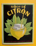 11467 - Sirop De Citron Distillerie Des Grands Etablissements Lyonnais... - Etiquettes