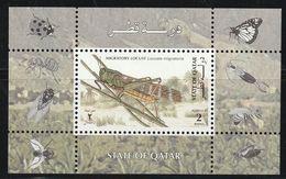 QATAR - BLOC N°33 ** (1998) Insectes - Qatar