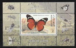 QATAR - BLOC N°34 ** (1998) Papillons - Qatar