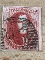 N°12 3 Marges (court Coin Inf Droit) Mais D'intérêt Car Très Belle Nuance Vive Papier Fin Cote 90€ P25 Charleroi - 1858-1862 Medallions (9/12)