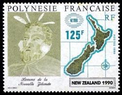 POLYNESIE 1990 - Yv. 363 **  Faciale= 1,05 EUR - New Zealand 1990, Expo Phil. ..Réf.POL21966 - French Polynesia