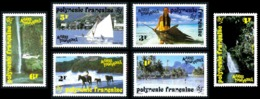 POLYNESIE 1992 - Yv. 399 à 404 ** SUP  - Activités Touristiques (5 Val.) ..Réf.POL21813 - French Polynesia