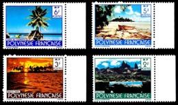 POLYNESIE 1986 - Yv. 252 à 255 ** Bdf  - Paysages (sign. CARTOR) (4 Val.) ..Réf.POL21770 - Unused Stamps