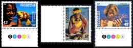 POLYNESIE 1986 - Yv. 249 à 251 ** TB Bdf Coul  Faciale= 1,20 EUR - Polynésiens Et Faune Marine (3 Val.) ..Réf.POL21940 - Unused Stamps