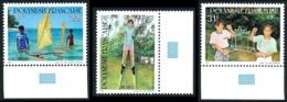 POLYNESIE 1992 - Yv. 415 à 417 ** TB Bdf Coul  - Jeux D'enfants: Pirogue, Fai, échasses (3 Val.) ..Réf.POL21997 - French Polynesia