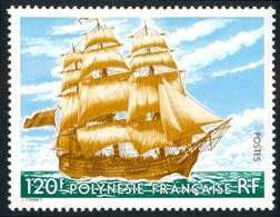 POLYNESIE 1977 - Yv. 118 **  Cote= 18,20 EUR - Bateau Voilier 3 Mats ..Réf.POL22172 - French Polynesia