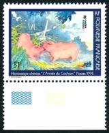 POLYNESIE 1995 - Yv. 480D ** Bdf  Cote= 13,70 EUR - SANS CARTOR. Nouvel An. Année Du Cochon (Assez RARE)  ..Réf.POL23442 - French Polynesia