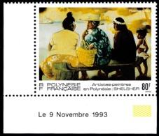 POLYNESIE 1993 - Yv. 447 ** SUP Cdf Daté Tableau De Shelcher  ..Réf.POL25094 - French Polynesia