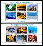 POLYNESIE 1997 - Feuillets Yv. 536 à 547 **  SUP   Cote= 180,00 EUR - Tourisme (12 Val.)  ..Réf.POL25099 - French Polynesia