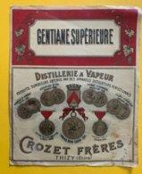 11468 - Gentiane Supérieure Distillerie à Vapeur Crozet Frères Thizy - Andere