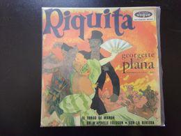 """45 T , Georgette Plana """" Riquita + Le Tango De Manon + On M'appelle Frisson + Sur La Riviera """" - Vinyl Records"""