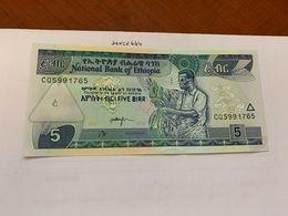 Ethiopia 5 Birr Uncirc. Banknote 2015 - Etiopia