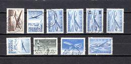 Finlandia  1944-70 .-  Y&T  Nº   2-4-5/6-7-8/9-10/11-12     Aéreos - Usados