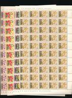 KATANGA FLOWERS ISSUE 40C/1F/2F/3F COMPLETE SHEETS OF 100 MNH - Katanga