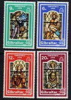 Gibraltar N° 342 / 45  XX Noël : Vitraux.  Les 4 Valeurs  Sans  Charnière, TB - Gibraltar