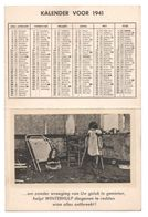 Kalender 1941 WINTERHULP Calendrier Secours D'Hiver - Kinderen Enfants - Oorlog Guerre - Petit Format : 1941-60
