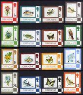 Gibraltar N° 348 / 63 XX   Série Courante : Flore Et Faune. La Série Des 16 Valeurs Sans Charnière, TB - Gibraltar