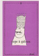 SINE  Ed Pulcinella  - Série Pape Pape à Gateau Bougie - CPSM  10.5x15 TBE Neuve - Sine