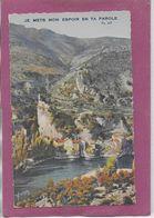 Gorges Du TARN  - JE MET MON ESPOIR  EN  TA PAROLE - Andere