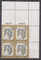 1977 , Mi 1565 ** (2) -  4er Block Postfrisch - Freimarke : Schönes Österreich - Myrafälle Bei Muggendorf / Niederösterr - 1945-.... 2. Republik