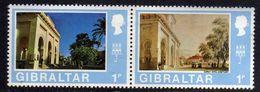 Gibraltar N° 335 / 36  XX Vue De Gibraltar.  Les 2 Valeurs Se Tenant, Sans Charnière, TB - Gibraltar