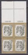 1977 , Mi 1565 ** (4) -  4er Block Postfrisch - Freimarke : Schönes Österreich - Myrafälle Bei Muggendorf / Niederösterr - 1945-.... 2. Republik