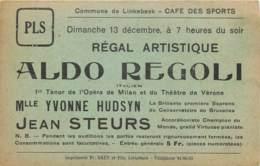 Belgique - Linkebeek - Carte Publicitaire - Café Des Sports - Régal Artistique - - Linkebeek