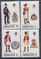 Gibraltar N° 338 / 41 X  Uniformes Militaires ( VIII ) Les 4 Valeurs  Trace De  Charnière Sinon TB - Gibraltar