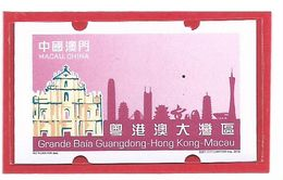 MACAU 2019 GUANDGONG, H.K. & MACAU GREAT BAY ATM LABELS  ERROR PRINT VAR VALUE OMMITED. - 1999-... Regione Amministrativa Speciale Della Cina