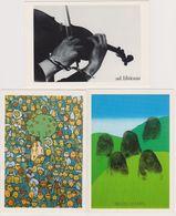 Lot 8 Cp 4ème Triennale Affiche Politique Mons Belgique - Violon Adam Eve Ver De Terre - CPM 10.5x15 TBE 1989 Neuves - Events