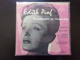 """45 T , Edith Piaf """" La Goualante Du Pauvre Jean + Heureuse Année + Soeur Anne + Johnny Tu N'es Pas Un Ange """" - Vinyl Records"""