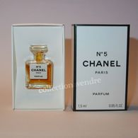 "CHANEL :  Parfum 1.5 Ml. ""épaules Horizontales"". Parfait état - Modern Miniaturen (vanaf 1961)"