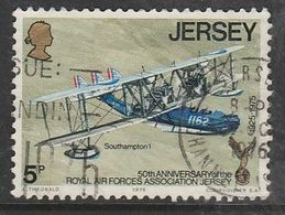 Jersey 1975 The 50th Anniversary Of The Royal Air Force Association, Jersey Branch 5p  Multicolored SW 122 O Used - Jersey