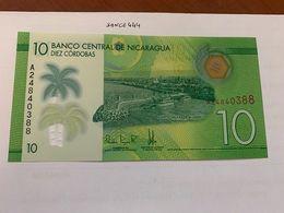 Nicaragua 10 Cordobas Uncirc. Polymer Banknote 2014 - Nicaragua