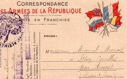 """CP- """" Correspondance Des Armées De La République """"- 6 Drapeaux - - Storia Postale"""